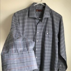 b69ee3ff Balenciaga Shirts - Vintage Balenciaga Plaid Shirt Grey Button Down